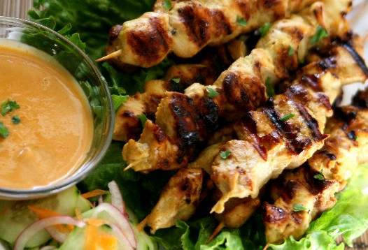 satay2 Chicken Satay and Coconut Peanut Sauce