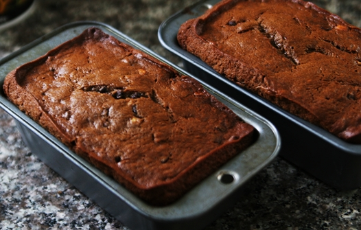 bananabreadbaked Rich and Moist: Sour Cream Chocolate Chocolate Chip Banana Bread Recipe