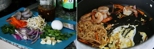 noodlefry A favorite Thai stir fry noodle dish at home: Pad Thai Recipe