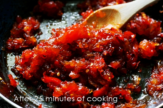 pepperrelishcooking4 Sweet and Spicy: Red Bell Pepper Relish Recipe