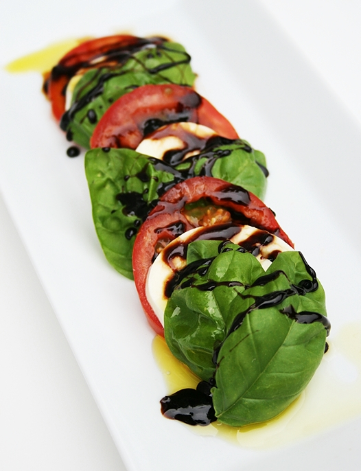 Insalata Caprese Salad Recipe with a Balsamic Brown Sugar Reduction