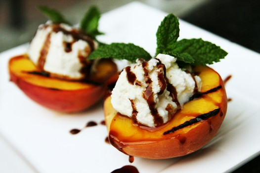 Recipe: Grilled Peaches with Ricotta Cheese