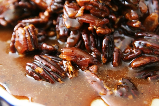 baconpecanspread Bacon Salted Caramel Pecan Bars Recipe