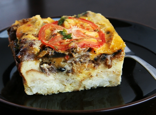 breakfastcasseroleslice Breakfast Casserole Recipe