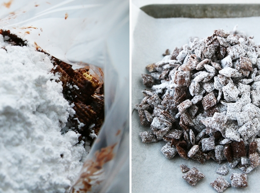 powderedsugarpuppychow Puppy Chow Recipe   Muddy Buddies
