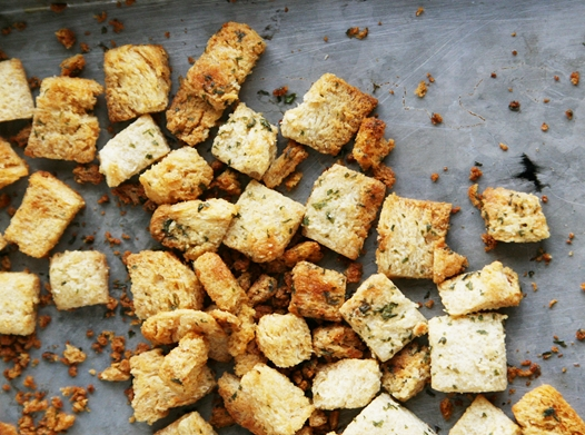 baked seasoned croutons Homemade Croutons Recipe