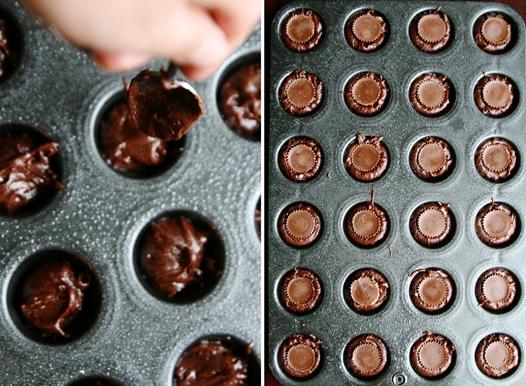 filledbrowniecups Peanut Butter Cup Brownie Bites Recipe