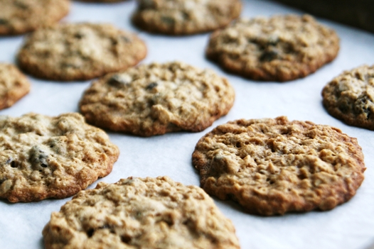 Oatmeal Raisin Cookies Baking