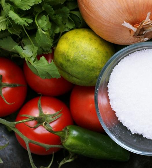 pico de gallo ingredients Easy Pico De Gallo Recipe