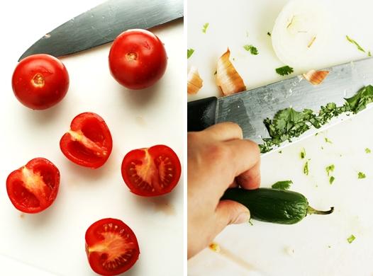tomatos seeded Easy Pico De Gallo Recipe