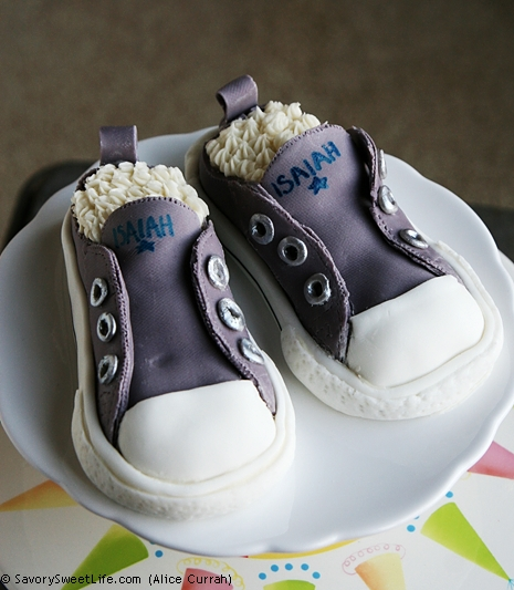 Isaiahs Shoes {Kids Birthday Cake Idea} Converse Sneakers Cake