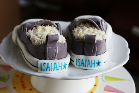 Isaiahs Shoes3 {Kids Birthday Cake Idea} Converse Sneakers Cake