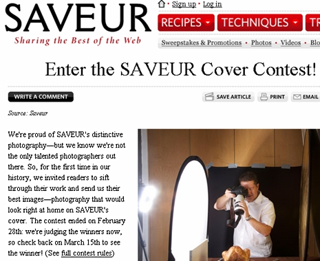 saveurcontest Excited To Have Won Saveur Photo Contest