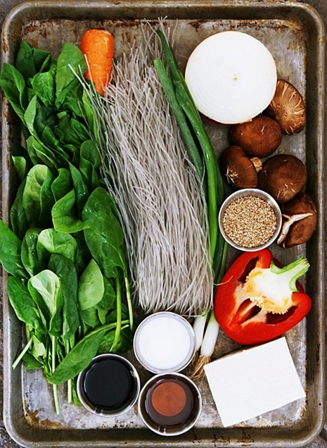 japchae ingredients SSL Vegetarian Jap Chae
