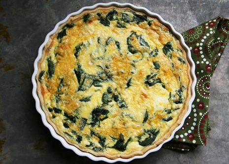 spinachricottaquiche No Roll Pie Crust