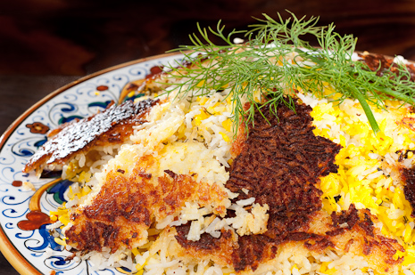 Persian Crispy Rice 465 {Chelo} Persian Rice Pilaf with a Crispy Crust