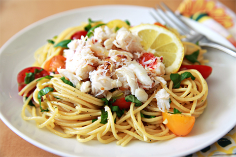 Lump crab meat with pasta recipes - Food fighter