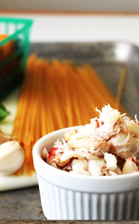 crabmeat Dungeness Crab Lemon Basil Pasta