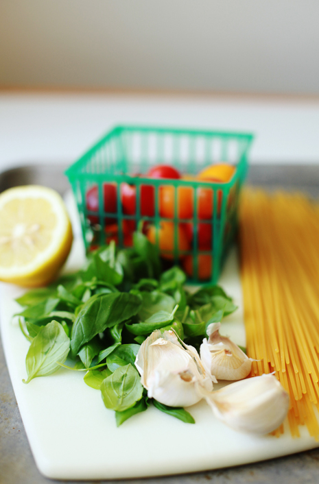 lemonpastaingredients Dungeness Crab Lemon Basil Pasta