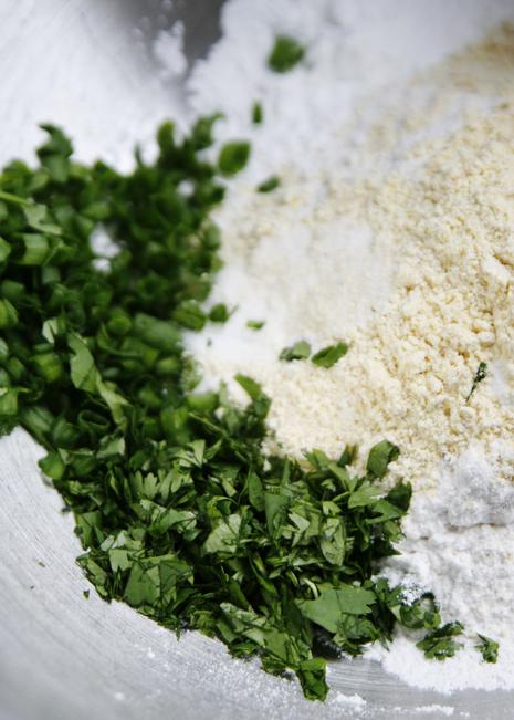 cornmealdumplingsdry Salsa Verde Chicken with Herbed Cornmeal Dumplings