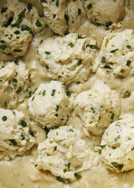 scoopeddumplings Salsa Verde Chicken with Herbed Cornmeal Dumplings