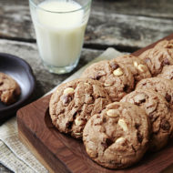 Hot Chocolate Triple Chocolate Chip Cookies