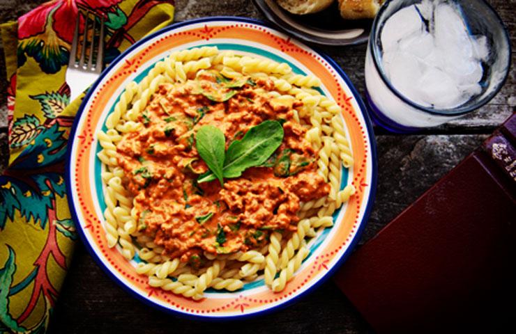 Chorizo Arugula Pumpkin Cream Sauce Recipe for Pasta
