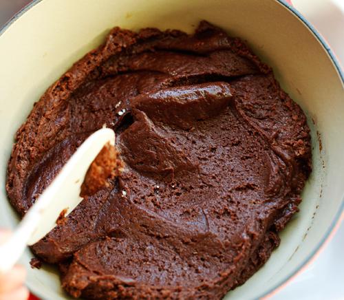 nutellacobblerbatterspread Nutella Chocolate Cobbler