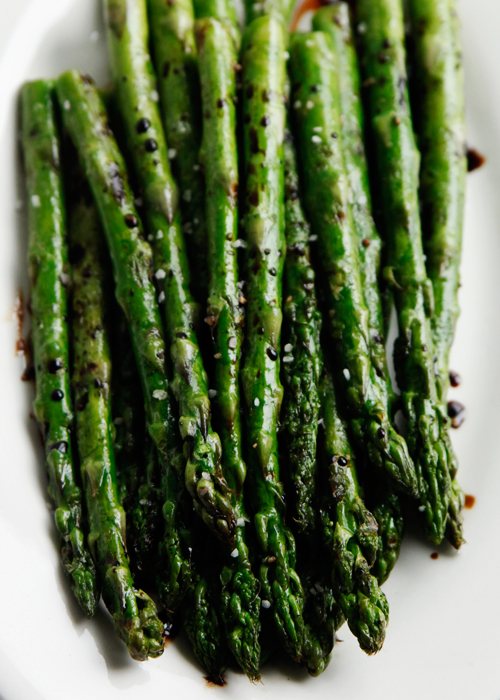 grilled asparagus Grilled Asparagus With Balsamic Syrup