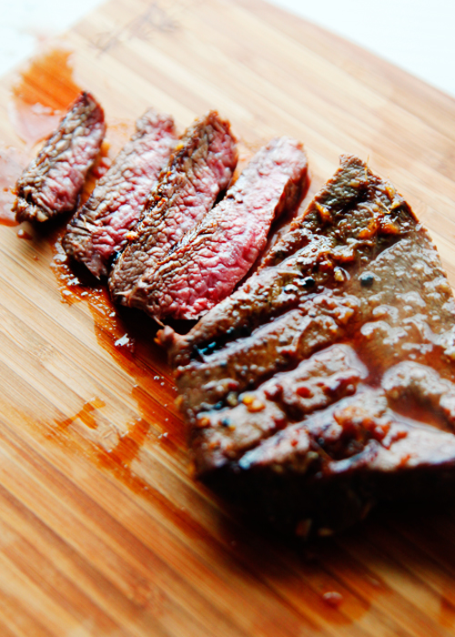 marinatedironsteak1 The Pioneer Womans Black Heels to Tractor Wheels Book Review and Asian Inspired Flat Iron Steak Recipe