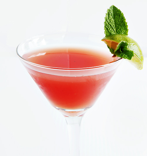 Watermelon Mint Lime Martini