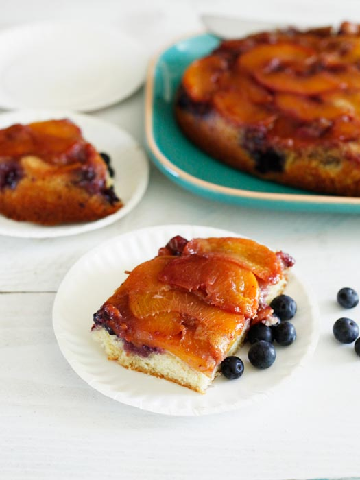 peach blueberry cake4 Peach Blueberry Coffee Cake