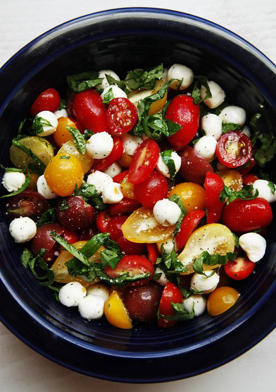 tomato basil mozerella salad Tomato Basil Mozzarella Salad