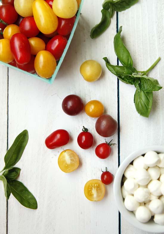 tomato salad ingredients Tomato Basil Mozzarella Salad