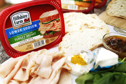 hillshirefarm1 Turkey, Mango Chutney, and Brie Panini