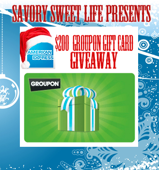 AMEXGROUPON Tis the Season to Giveaway a $200 Gift Card from American Express