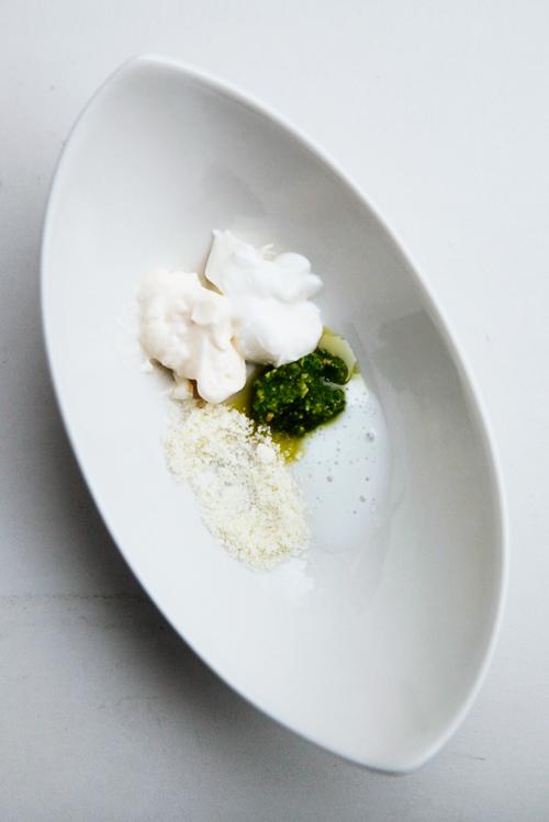 creamy pesto ingredients Creamy Pesto Dressing
