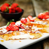 Strawberry Almond Stuffed French Toast