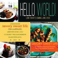 Exciting News – Savory Sweet Life Cookbook!