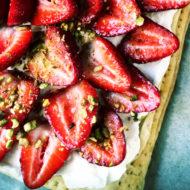 Strawberry Honey Pistachio Cream Tart
