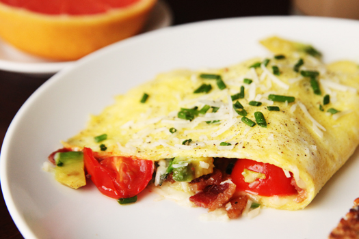 bacon tomato omelette How to Make an Omelette