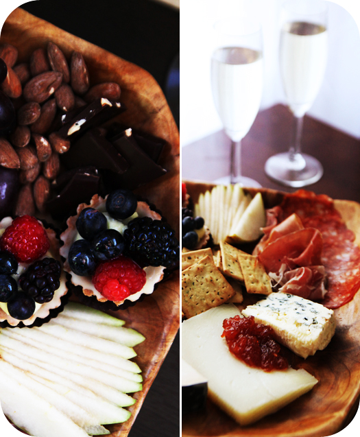 cheese plate wine glasses After the Kids Go to Bed   Date Night Happy Hour at Home   Wine and Cheese Platter