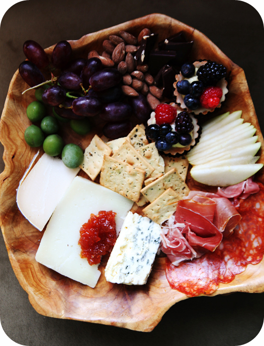 cheese plate After the Kids Go to Bed   Date Night Happy Hour at Home   Wine and Cheese Platter