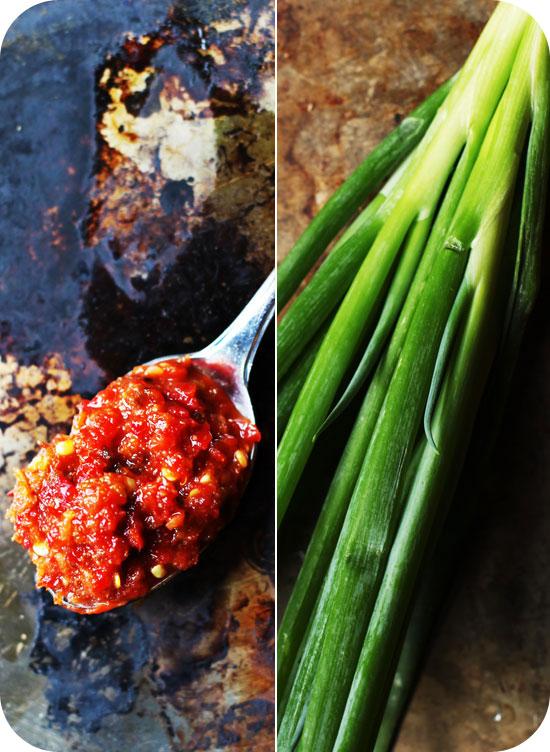 garlic chili sauce scallions Kale Mabo Tofu