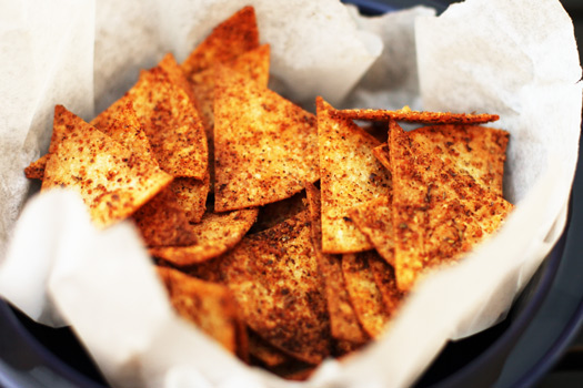 Spicy Baked Tortilla Chips Recipe 1 Spicy Baked Flaxseed Tortilla Chips