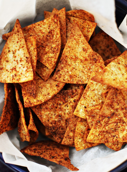Spicy Baked Tortilla Chips Recipe Spicy Baked Flaxseed Tortilla Chips