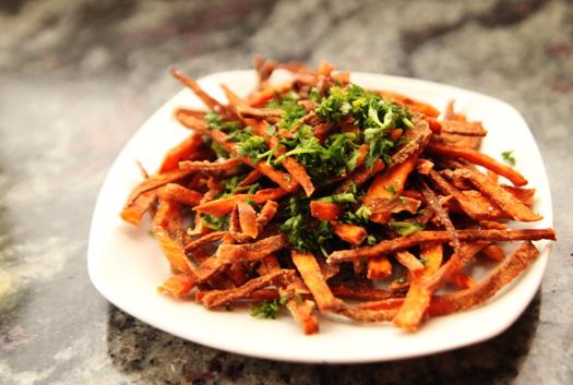 sweet potato frites ONEs Sweet Potato Day! Truffle Sweet Potato Frites
