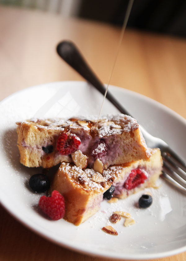 Stuffed French Toast with Berries and Cream