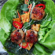 Hawaiian Thai Meatball Lettuce Wrap