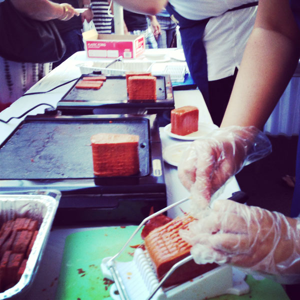 spam cutter Food Adventure: A Recap of Honolulus SPAM JAM 2013
